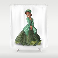 parks Shower Curtains featuring Princess Rosa Parks (Trumble Cartoon) by Trumble Art (David Trumble, Cartoonist a
