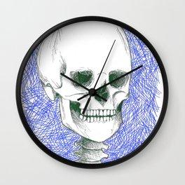 Skeleton in Blue Wall Clock