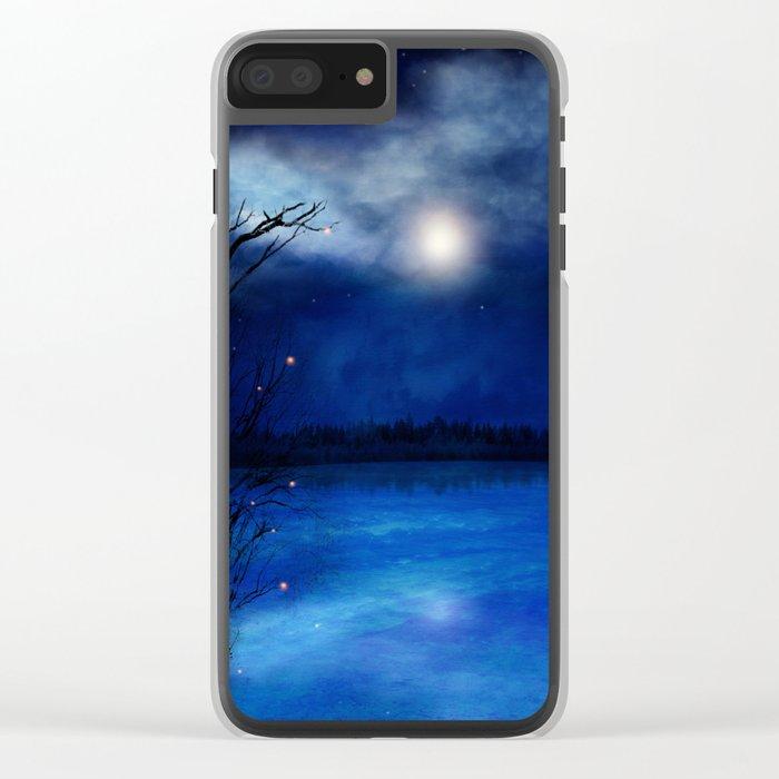 Wishing Stars Clear iPhone Case