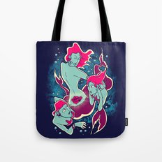 Mermaid Tattoo Tote Bag