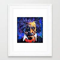 einstein Framed Art Prints featuring Einstein by FEENNX