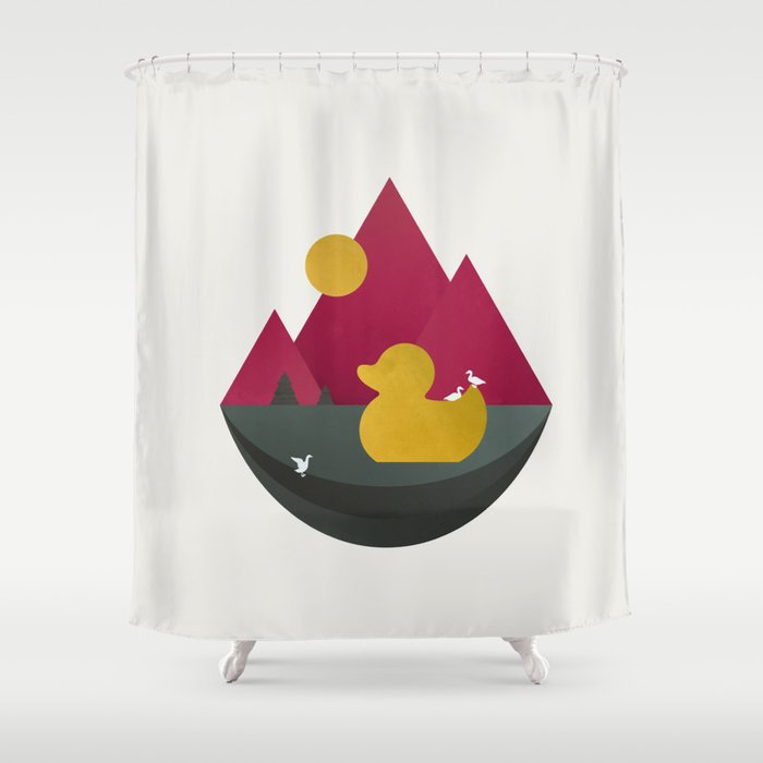 Duck Dance Shower Curtain By Typoric