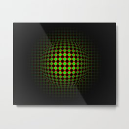 ball shadow bright surface point Metal Print