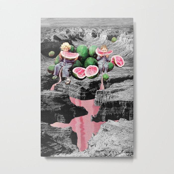 Watermelon Watermarks Metal Print