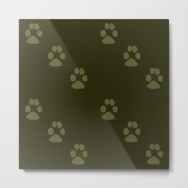Paw Prints in a Line Metal Print