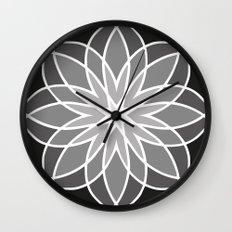 Shades of Grey   Geometric Pattern Wall Clock