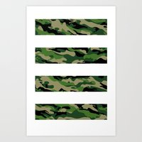 camo Art Prints featuring Camo by angelasoto