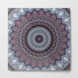 New Color Pyramidal Mandala 24 Metal Print