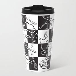 Kitchen Tools Checkerboard Travel Mug