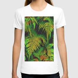 Camouflage Hidden Buddha in Ferns T-shirt