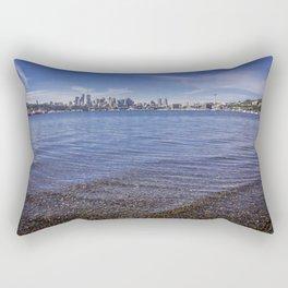 Lake Union and Seattle Skyline Rectangular Pillow