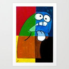 50 Shades of Bloo Art Print
