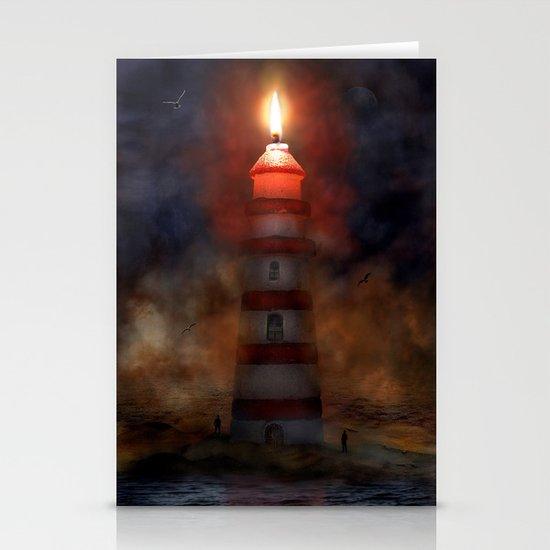 Das brennende Leuchtsignal Stationery Cards