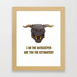 Ghostbusters (Gatekeeper/Keymaster/Zul) Framed Art Print