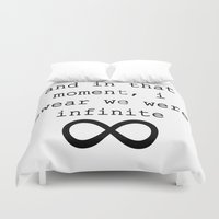 infinite Duvet Covers featuring Infinite by AliceAttack