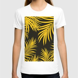 Palm Leaves Pattern Yellow Vibes #1 #tropical #decor #art #society6 T-shirt