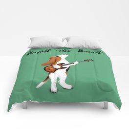 Basset the Bassist (Green) Comforters