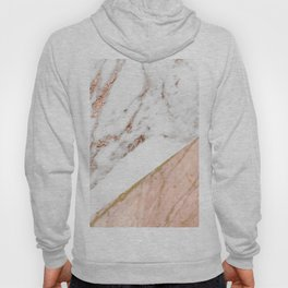 Marble rose gold blended Hoody