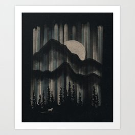 A Wolf in the Night... Art Print
