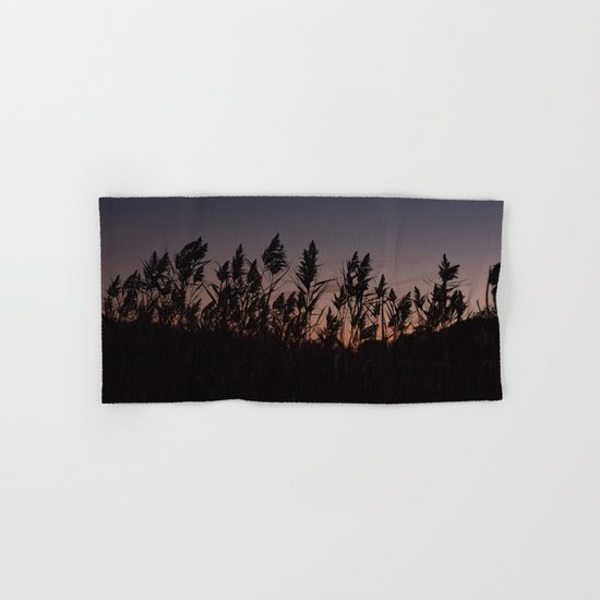 Phragmites silhouette at sunset Hand & Bath Towel