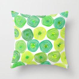 Lemon-Lime Lift Spring Abstract Throw Pillow