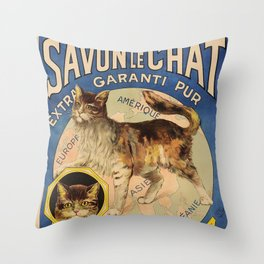 The Cat brand French Soap Throw Pillow