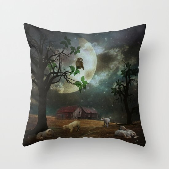 By the Moon Light Throw Pillow