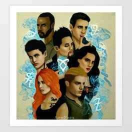Shadowhunters Art Print
