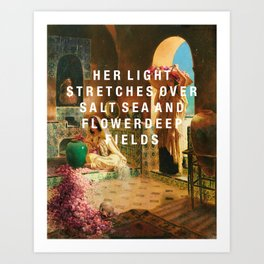 her light stretches Art Print