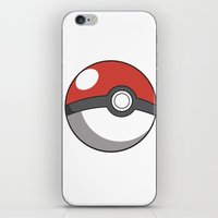 pokeball iPhone & iPod Skins featuring Pokeball ! by swiftstore