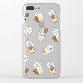 I LOVE BUBBLE TEA Clear iPhone Case