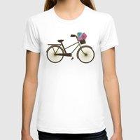 bike T-shirts featuring Bike by Juliana Zimmermann