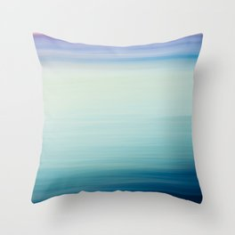I Love the Sea Ombre Abstract Throw Pillow