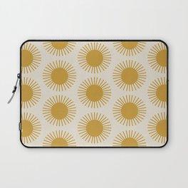 Golden Sun Pattern Laptop Sleeve