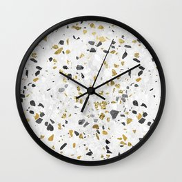 Glitter and Grit Wall Clock