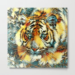AnimalArt_Tiger_20170607_by_JAMColorsSpecial Metal Print