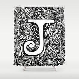 Letter J Shower Curtain