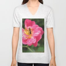 Flower Bee Unisex V-Neck