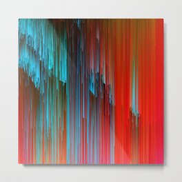 California Dreamin' - Abstract Glitch Pixel Art Metal Print