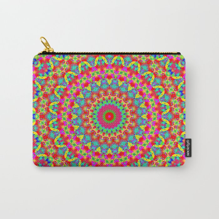 Kaleidoscope Vibrant Trippy Pattern Carry-All Pouch