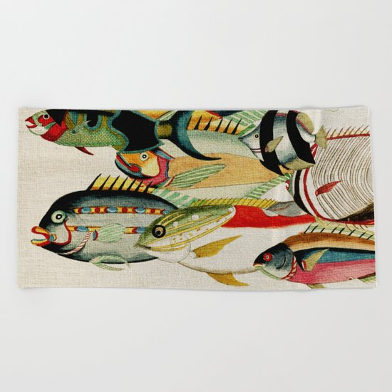 Fantastic Fish Tank Beach Towel