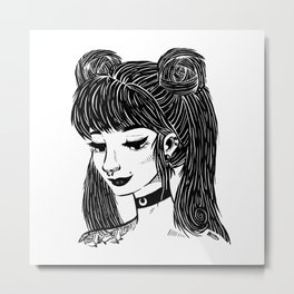 Hipster Sailor Moon Metal Print