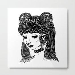 Hipster Sailor Moon Metal Print