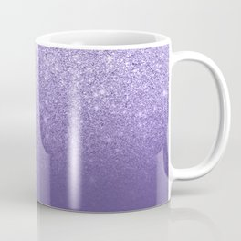 Modern ultra violet faux glitter ombre purple color block Coffee Mug