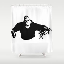 king to the kong Shower Curtain