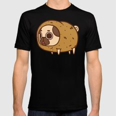 Puglie Potato SMALL Black Mens Fitted Tee