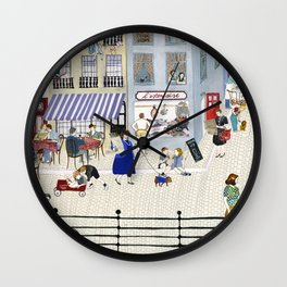 On the dike (in Ostend) Wall Clock