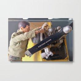 Airplane Mechanic Metal Print
