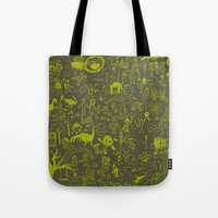 doodle Tote Bags featuring Doodle by Sarinya  Withaya