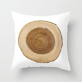 Natural Tree Slice Throw Pillow